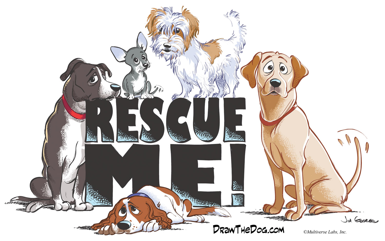 Draw the Dog cartoons AdoptaPet Blog