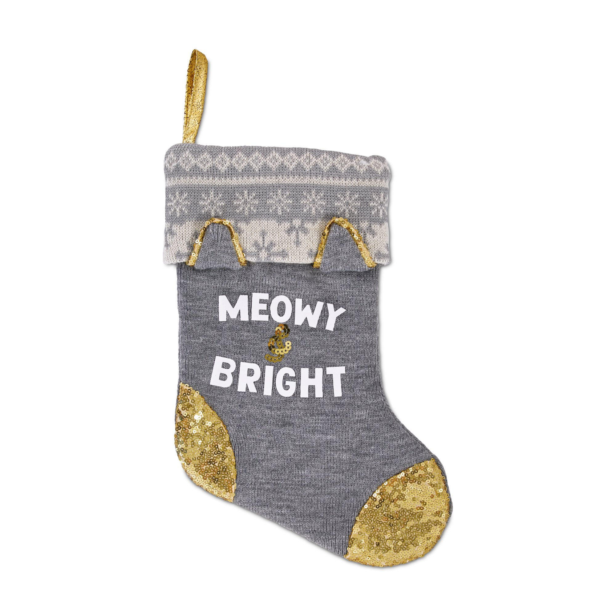 Holiday Tails Meowy and Bright Cat Stocking