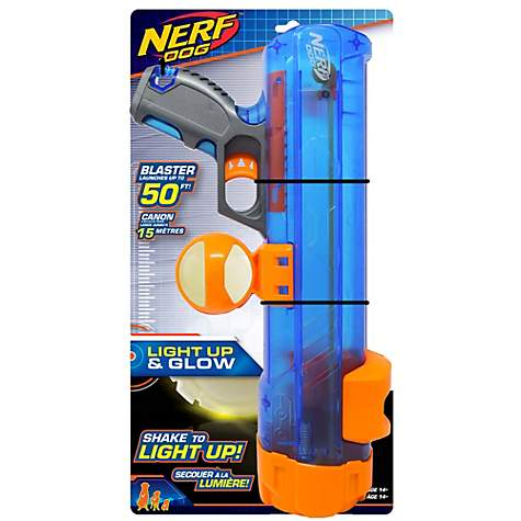 Nerf Translucent Blaster with Ball Clip and Lightning GLOW:LED Ball