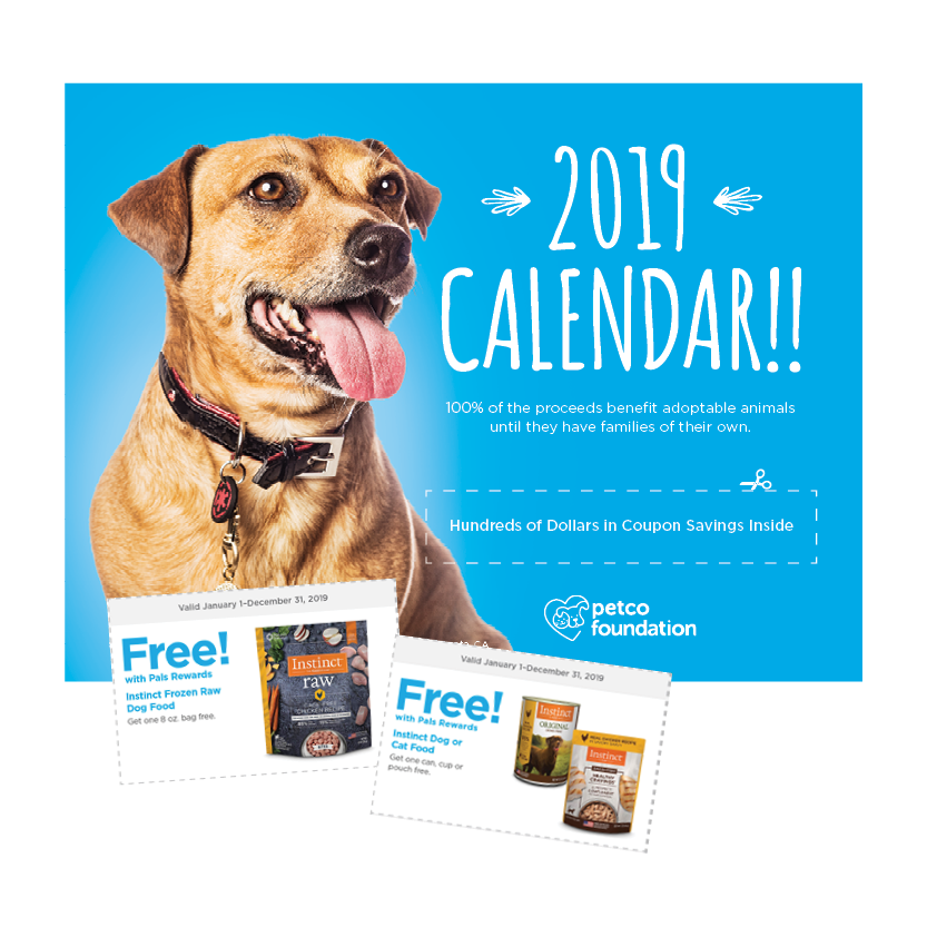 2019 Petco Foundation Calendar: The Gift that Gives Back All Year Long