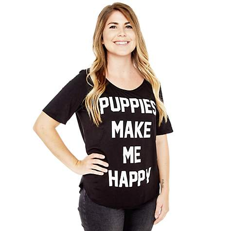 Puppies Make Me Happy Weekend Tee