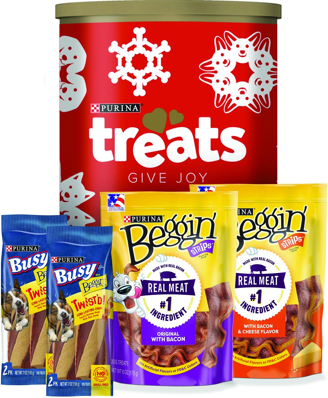 Beggin' & Busy Holiday Christmas Tin Variety Pack Dog Treats