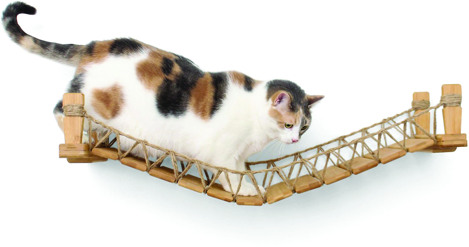 CatastrophiCreations Wall Mounted Wooden Cat Bridge_Natural-2