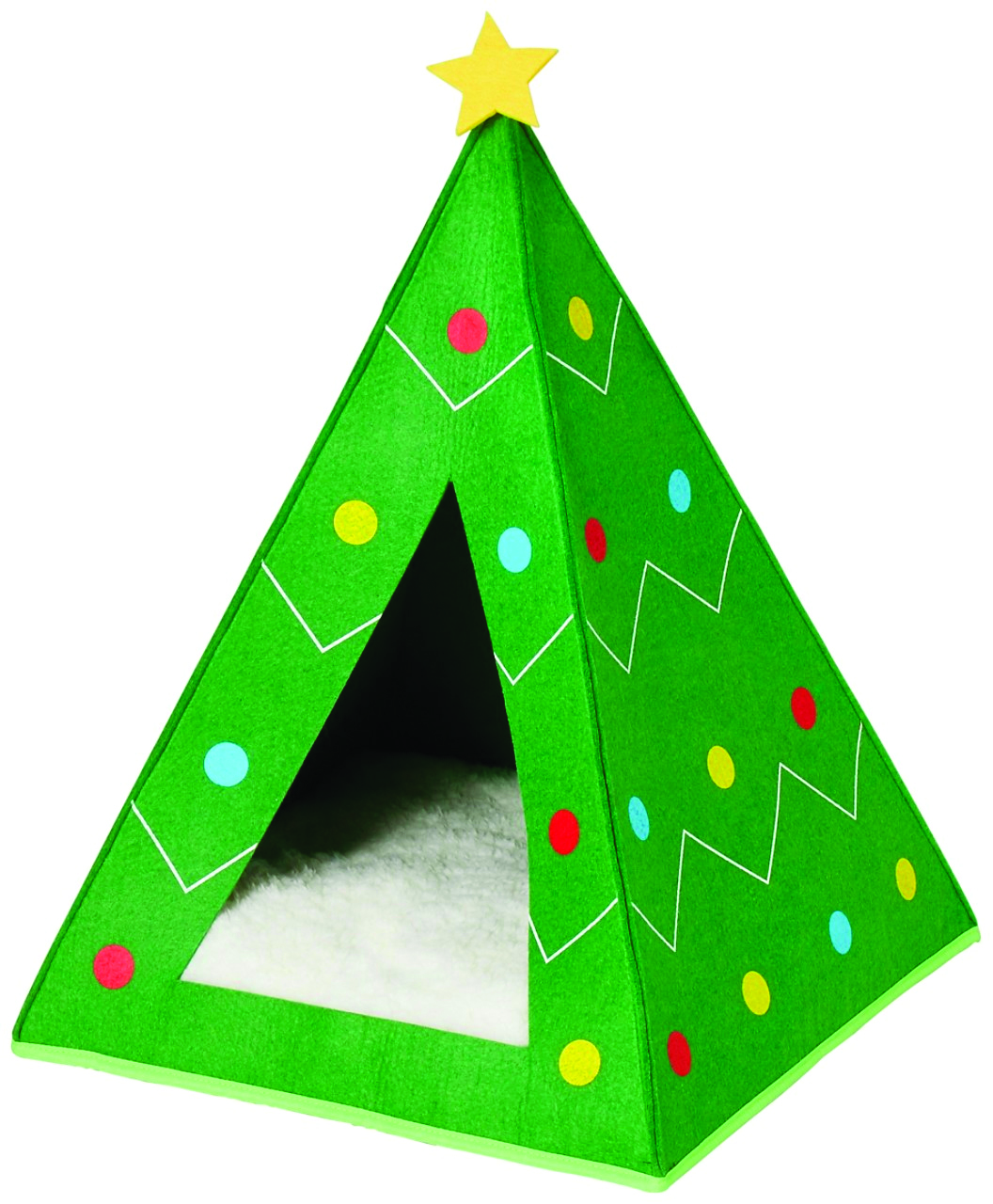 Frisco Holiday Dog & Cat Christmas Tree Bed Cave