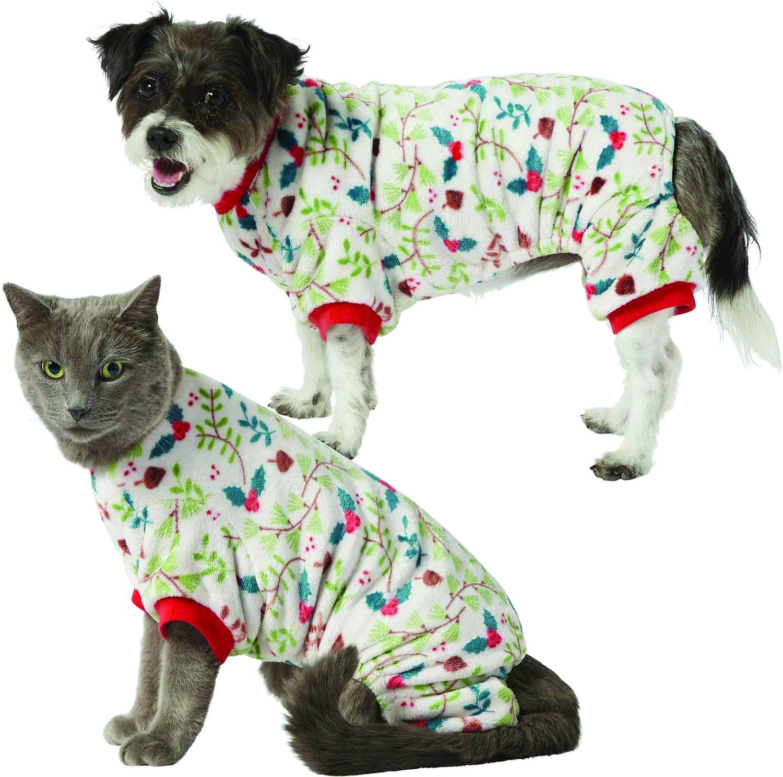 Frisco Holiday Foliage Dog & Cat Cozy Fleece PJs_Dog and Cat