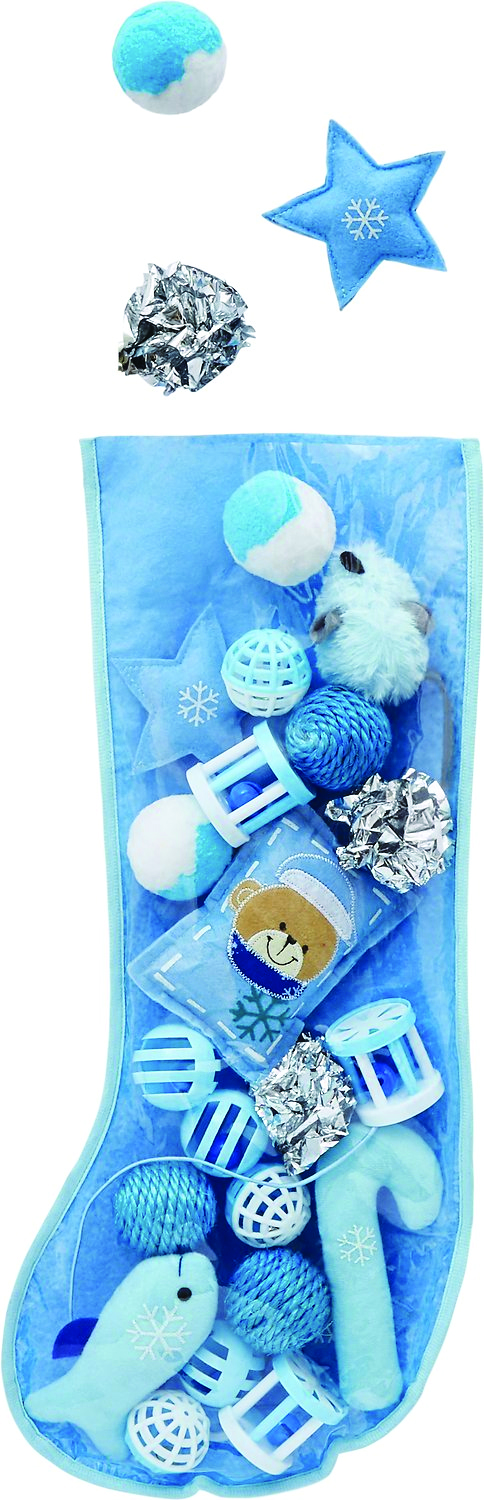 Frisco Holiday Stocking Variety Pack Cat Toy