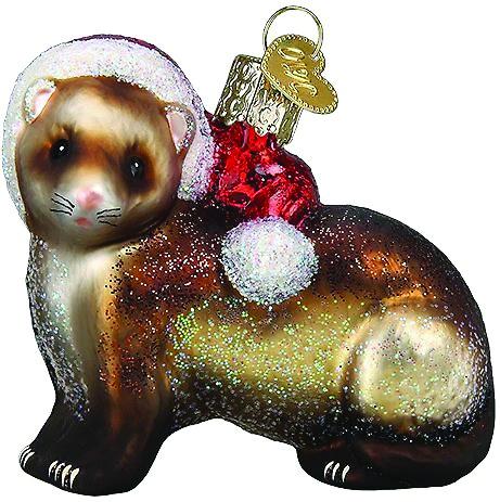 Old World Christmas Ferret Glass Tree Ornament