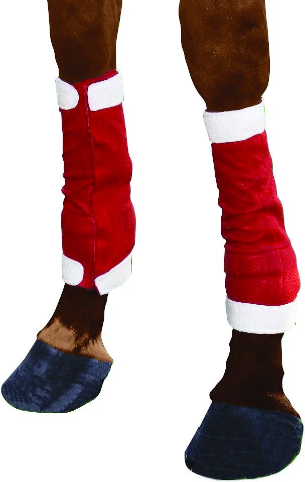 Tough-1 Santa Horse Leg Wraps 4 Piece Set